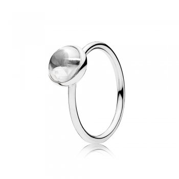 Pandora Poetic Droplet Ring, Clear CZ 191027CZ
