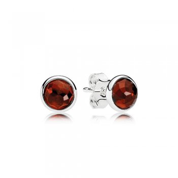 Pandora January Droplets Stud Earrings, Garnet 290738GR