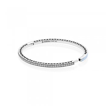 Pandora Light Blue Radiant Hearts of PANDORA Bangle 590537EN131