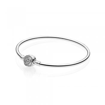 Pandora Disney, Beauty & The Beast Bangle Bracelet, Clear CZ 590