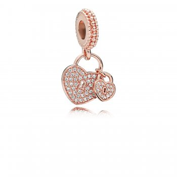 Pandora Love Locks Dangle Charm, PANDORA Rose & Clear CZ 781807C