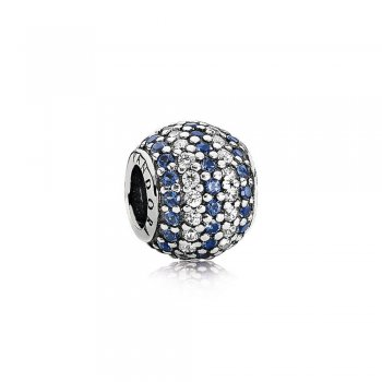 Nautical Pave Lights, Blue Crystal & Clear CZ 791172NCB