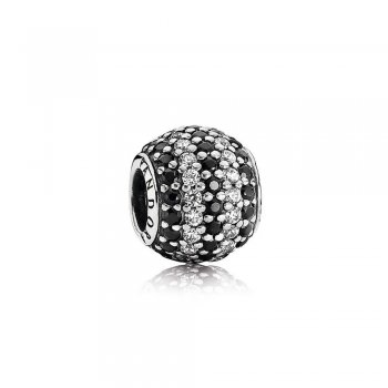 Nautical Pave Lights, Black Crystal & Clear CZ 791172NCK