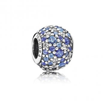 Pandora Sky Mosaic Pave Charm, Mixed Blue Crystals & Clear CZ 79