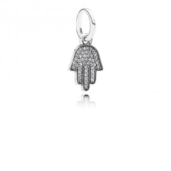 Pandora Symbol Of Protection Dangle Charm, Clear CZ 791307CZ