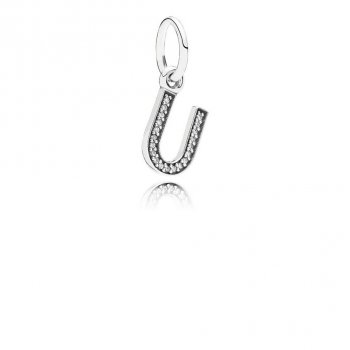 Pandora Letter U Dangle Charm, Clear CZ 791333CZ