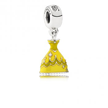 Pandora Disney, Belle's Dress Dangle Charm, Mixed Enamel 791576E