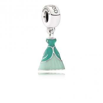 Pandora Disney, Ariel's Dress Dangle Charm, Mixed Enamel 791577E