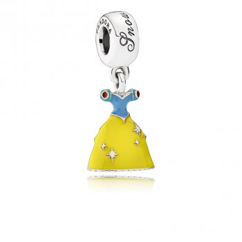 Pandora Disney, Snow White's Dress Dangle Charm, Mixed Enamel 79