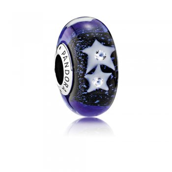 Pandora Starry Night Sky Charm, Murano Glass & Clear CZ 791662CZ