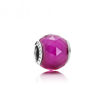 Pandora Geometric Facets Charm, Synthetic Ruby 791722SRU