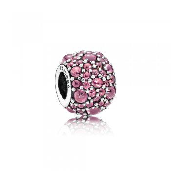 Pandora Honeysuckle Pink Shimmering Droplets Charm 791755HCZ