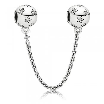 Pandora Star silver safety chain 791782CZ