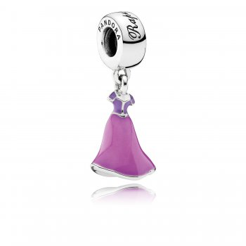 Pandora Disney, Rapunzel's Dress Dangle Charm, Mixed Enamel 7918