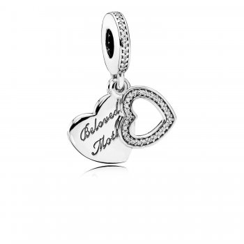 Pandora Beloved Mother Dangle Charm, Clear CZ 791883CZ