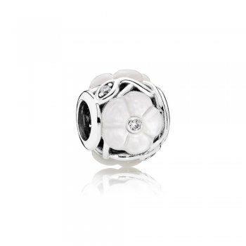 Pandora Luminous Florals Charm, Mother-Of-Pearl & Clear CZ 79189