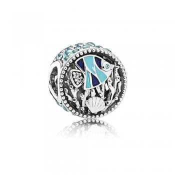 Pandora Ocean Life Charm, Mixed Enamel & Multi-Colored CZ 792075