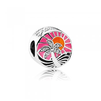 Pandora Tropical Sunset Charm, Mixed Enamel & Clear CZ 792116ENM